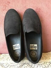 FITFLOP WOMENS BLACK SUEDE SNAKE PRINT SUPERCOMFF WALKING SHOES SIZE EU 37,US 6