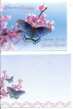Lot 3 Greeting cards -Flower Butterfly Birthday Thinking of You - VERY CUTE !!