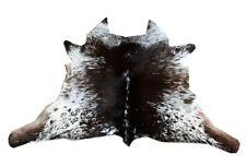 "Cowhide Rugs Calf Hide Cow Skin Rug (27""x31"") Black Brown and White CH8045"