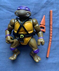 Teenage Mutant Ninja Turtles DONATELLO 1988 Soft Head TMNT w/ Weapons Loose