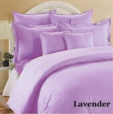 Striped Lavender Down Alternative Comforter 200 GSM All Seasons Cal King Size