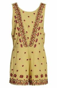 Free People Margarita Embroidered Romper 10 NWT