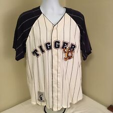 Disney Store Mens Baseball Jersey Tigger Stitched Large White Blue Free Shipping