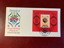 JAMAICA 1981 FDC PRINCE CHARLES PRINCESS DIANA WEDDING MINISHEET