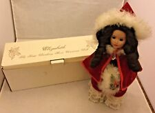"The First Danbury Mint Christmas Doll Elizabeth 13"" with Original Box Free Ship"