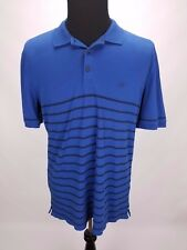 AG Adriano Goldschmied Green Label Men's Striped Blue Polo Shirt Size XL