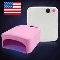 USA 36W Pro LED UV Nail Polish Dryer Lamp Gel Acrylic Curing Light Spa Kit