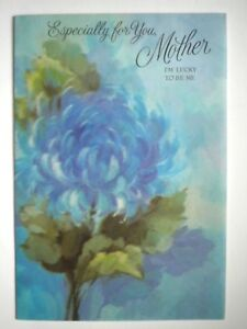 """Hallmark~VINTAGE FRENCH-FOLD """"ESPECIALLY FOR YOU, MOTHER"""" BIRTHDAY GREETING CARD"""