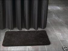 Rideau de douche noir Tissu incl. Anneaux 180 x 200 cm neuf