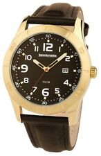 Lambretta Luigi Leather Strap Brown Dial Gold Tone Case Mens Watch 2125/BRO