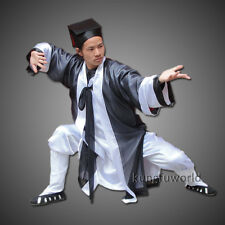 Wudang Taoist Kung fu Suit Martial arts Tai chi Uniform Men's Halloween Costumes