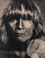 1900/72 Vintage EDWARD CURTIS Native American Indian Hopi Man Portrait Photo Art