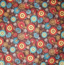 Indian Paintbrush Astral Summer Flowers & Seed pods Cotton Fabric BTQY off bolt
