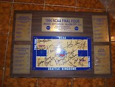 1995 NCAA FINAL 4 AUTOGRAPHED PLAQUE 11 AUTOGRAPHS, ISIAH THOMAS, GREGORY HINES