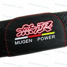 set of JDM MUGEN POWER Carbon Fiber Look Seat Belt Cover Shoulder Pads for HONDA