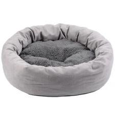 SOFT PET DOG CAT CALMING BED WARM SLEEPING NEST DONUT WASHABLE CUSHION MAT