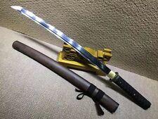 Japanese Sword Samurai Wakizashi Katana Sharp Clay Tempered T10 Steel Blade Ninj