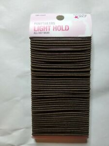 Lot of 2 Beauty 360 Ponytailers Light Hold All Day Wear 100 Pieces Brown