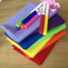 Rainbow Fat Quarter Bundle Spektrum Feststoffe Makower Quilting Craft Baumwollstoffe