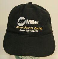 Vintage 1990s Miller Motorsports Dale Earnhardt Nascar Racing Snapback Hat Cap
