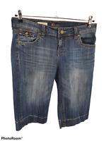 Kut From the Kloth Natalie Bermuda Stretch Shorts Flap Pocket Womens Size 8