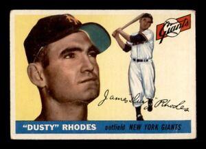 1955 Topps Set Break #1 Dusty Rhodes VG *OBGcards*