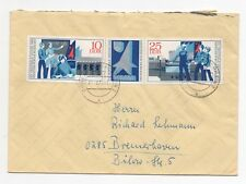 1973 GERMANY Cover DOBERLUG KIRCHHAIN to BREMERHAVEN SGE1517/8 Block Gutter DDR