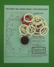 Recel Petaco The Fiery '30s, Bang! Bang!, The Godfather pinball rubber ring kit
