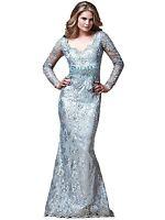 Mac Duggal Couture Collection Women's Dress  14 Platinum