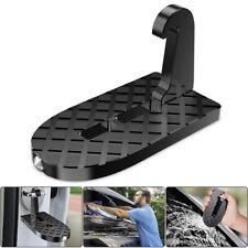 1Pc Black Alumnum Alloy Foldable Car Doorstep Heavy Duty Foot Pedal Hooking Kits