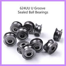 20pcs Miniature U Groove Sealed Metric Ball Bearings 4x13x7mm Model U624zz