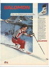 "Salomon SX81 Ski Boot 1985 Original Print Ad 9 x 11"" Playboy Magazine 80s"