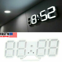 Wall Clock Watch 3D LED Digital Modern Design Alarm Living Room Decoration