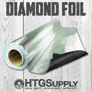 DIAMOND FILM 25', 50', 100' Ft Rolls Light Reflective Foil Grow Room Mylar Liner
