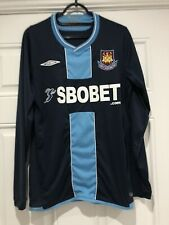 2009-10 Long Sleeved West Ham United Away Shirt - Small