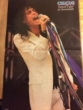 Aerosmith, Steven Tyler, Two Page Vintage Centerfold Poster
