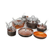 Copper Non-Stick Induction Frying Pan Kitchen Cookware Set Pots and Pan Set