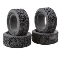Rubber Tires Set for 1/10 All-road Rc Car 4pieces Tamiya TT01 TT02 TT01E TL01