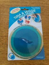 Tuna & Veggie Press & Strainer Drainer Evriholder Fits Both Large and Small Can