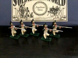 Regal Toy soldiers Napoleonic 5 French Dragoons kneeling firing. 54 mm soldiers