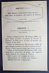 VITERBO-REGIO DECRETO X APPLICAZIONE DELLA TASSA DI FAMIGLIA-2734