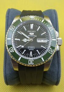 Seiko Green Submariner Mod with SNZH55 dial and NH36 movement