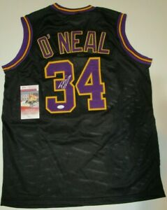 Shaquille O'neal Autographed Signed Basketball Jersey JSA COA Los Angeles Lakers