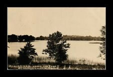 DR JIM STAMPS US EAGLE LAKE BLOOMINGDALE MICHIGAN REAL PHOTO RPPC POSTCARD