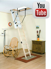 Drabest Wooden Loft Ladder Kit - Timber - Handrail - Insulated Trap Door - New