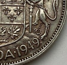 CANADA 1949 NARROW DATE 50 CENTS KING GEORGE VI  .800 SILVER  C10