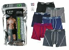 Lot 3 or 6 Pack Mens Performance ClimaLite Boxer Briefs Underwear Flex Waistband