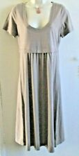 BODEN SIZE 12L LADIES LONG STRETCH BROWN FLOW BOTTOM DRESS