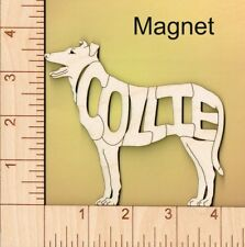 Collie Smooth Coat Dog laser cut wood Magnet Great Gift Idea