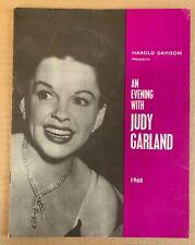 Vintage An Evening with Judy Garland 1960 London Concert Program Original Rare